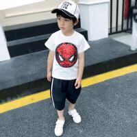 男童短袖t恤蜘蛛侠男孩款夏装宝宝童装