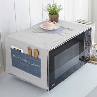 微波炉罩时尚盖巾北欧棉麻布艺厨房通用烤箱罩美的格兰仕防尘罩