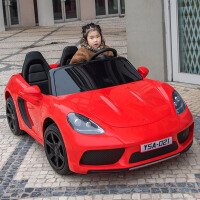 儿童电动汽车四轮可坐双人双人座电动车超大号小孩宝宝遥控玩具车可坐大人