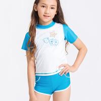 hosa浩沙儿童泳衣女童分体平角游泳衣可爱宝宝中小童泳衣