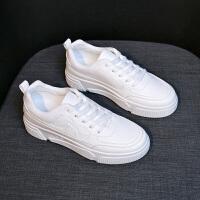 小白鞋2019春季休闲鞋原宿风韩版运动鞋女百搭透气女鞋潮学生板鞋 白色 W96K