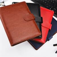 磁扣笔记本文具本子加厚A5商务记事本创意活页办公日记本
