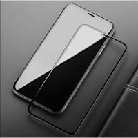 苹果X XR XS MAX全屏钢化膜iphone 6/6s/7P/8plus玻璃膜手机贴膜 XR 6.1寸 黑色2片装