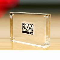 亚克力水晶相框摆台56781012寸A4双面玻璃磁铁透明画证书奖状框抖音 横竖通用