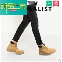 新品上市春季新款男靴子马丁靴男韩版高帮情侣靴英伦工装沙漠靴马丁鞋