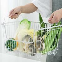 铁艺可叠加收纳筐橱柜储物筐 厨房蔬菜收纳篮玩具零食筐子