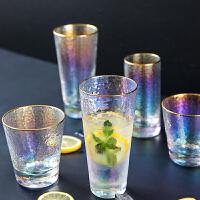 炫彩杯子金边玻璃杯女家用套装男士酒杯茶杯创意个性水杯