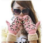 女士时尚休闲韩版卡通连指手套女厚保暖可爱手套
