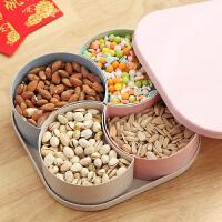 泰蜜熊北欧创意分格糖果盒家用干果盒水果盘客厅茶几瓜子盘零食盘瓜子盒