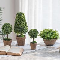 创意美式乡村仿真植物客厅假盆景花摆件家居桌面迷你装饰花卉盆栽