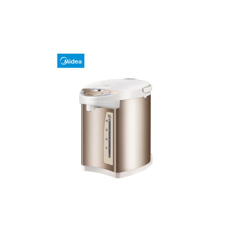 Midea/美的 PF701-50T电热水瓶304不锈钢家用保温大容量电热水壶 支持礼品卡