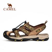 【超品日7.18-7.20 满279减100 满100减20】camel骆驼户外男款沙滩凉鞋 休闲舒适耐磨男士凉鞋
