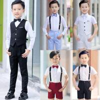 男童钢琴主持人小学生合唱服演出服装夏季儿童演出服小花童礼服