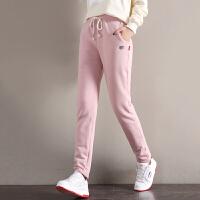 羊羔绒卫裤女小脚高腰保暖休闲裤子冬季新款宽松加绒运动长裤加厚