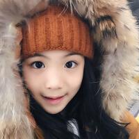 韩版新款秋冬毛线帽子女加厚保暖ins风套头帽时尚尖尖帽毛球亲子