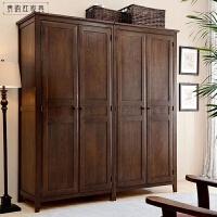 全实木家具 储物柜 衣橱四门衣柜 4门