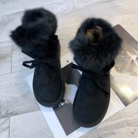 雪地靴女2018冬季新品短筒韩版百搭学生潮棉靴保暖棉鞋加厚短靴