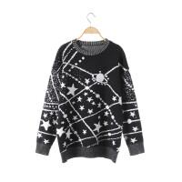 毛衣设计感女小众中长款慵懒风洋气百搭加厚很仙的毛衣女 吴谨言同款星星毛衣