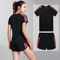 运动短裤女士跑步健身速干潮休闲套装女夏季宽松训练裤大码篮球裤