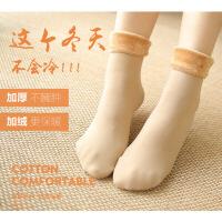 新款加绒加厚雪地袜光腿神器秋冬袜百搭袜子女