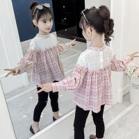 女童衬衫春装儿童格子衬衣春秋小女孩上衣长袖打底衫