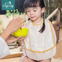贝谷贝谷宝宝吃饭围兜喂饭婴儿饭兜儿童吃饭围兜小孩防水罩衣夏季