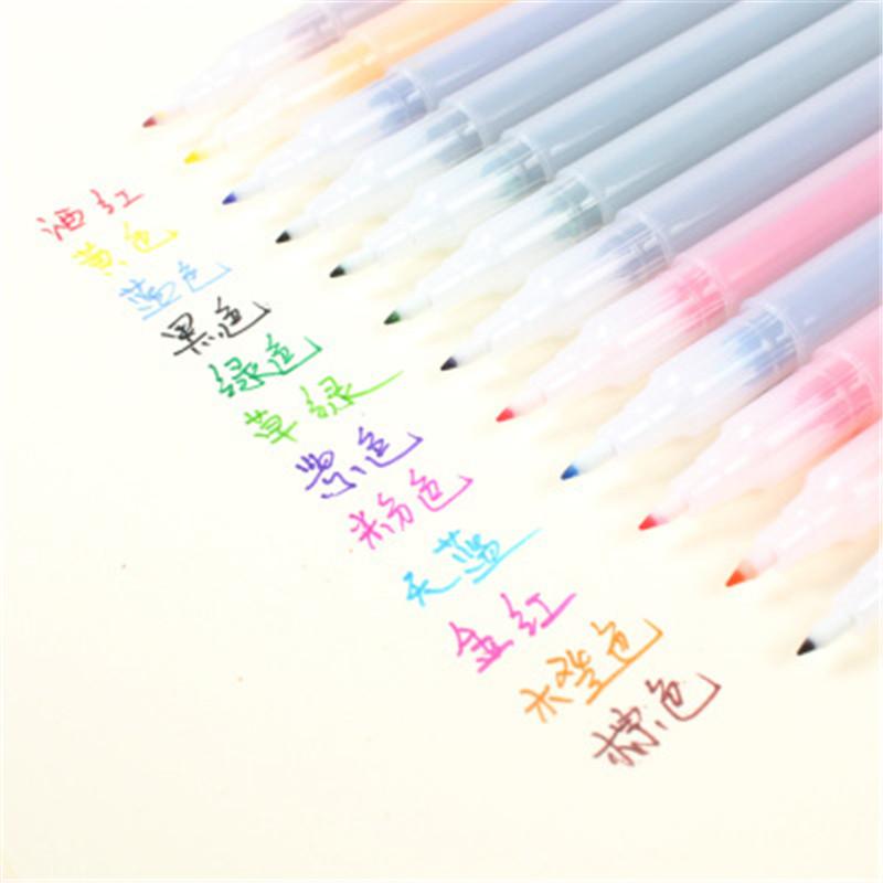 韩国可爱创意便签贴 小本子小清新便利贴 可撕记事留言备忘N次贴纸 白色 12色套装