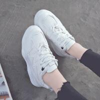 春季新款小白鞋女百搭韩版运动鞋潮休闲鞋ins板鞋学生女鞋ulzzang 白色 HW9006K