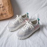补丁鞋复古港味帆布鞋女韩版学生百搭板鞋子2019女鞋