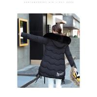 新年特惠棉衣中长款女士棉袄女装冬装新款女中长款韩版修身加厚大毛领羽学生棉袄外套潮 M 80-95