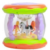 旋转木马音乐鼓 宝宝手拍鼓儿童音乐拍拍鼓可充电早教0-1岁旋转木马婴儿玩具