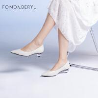 【减后价:329元】FONDBERYL单鞋2021年春季尖头浅口女鞋子FB11111070