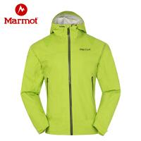 Marmot/土拨鼠户外秋冬薄款男单冲锋衣防水透气耐磨外套_A40050
