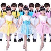 男童大合唱服小学生舞蹈纱裙表演服装儿童演出服女童公主裙蓬蓬裙