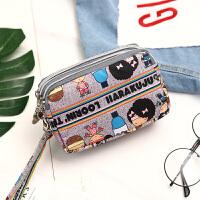 新款大屏手机包女韩版手机袋手腕零钱包装迷你小包包多层防水