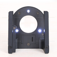 60倍锌合金带刻度尺三个LED灯高倍照布镜专业检布放大镜