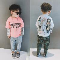 男童长袖t恤儿童打底衫宝宝中童纯棉条纹上衣