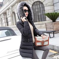 新年特惠女中长款2019新款韩版羽修身显瘦毛领棉袄冬季女装外套