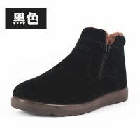 布鞋男冬季保暖高帮男鞋加绒加厚滑爸爸鞋中老年