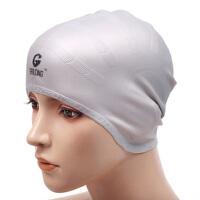 耳朵防水护耳泳帽 设计长发男士女士儿童硅胶游泳帽
