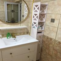 卫生间收纳柜 多功能 卫生间厕所马桶边柜侧柜落地浴室储物柜窄柜订做收纳柜置物架