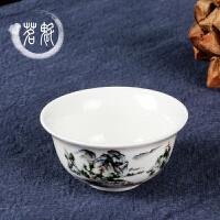 陶瓷 品茗杯白瓷小口杯茶杯子夫茶具铁观音普洱茶杯
