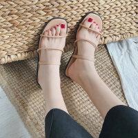户外凉拖鞋女可爱ins百搭时尚一字拖外穿平底沙滩鞋