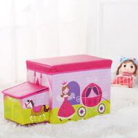 儿童收纳箱 儿童可坐储物多功能玩具收纳凳子2019创意宝宝折叠卡通汽车整理箱