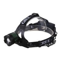 山地 自行车户外头灯强光充电 LED T6头戴充电探照灯