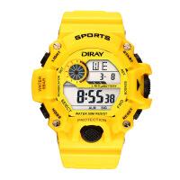 电子表学生户外运动防水手表男夜光闹钟LED电子腕表