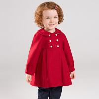 davebella戴维贝拉童装冬季新款女童毛呢外套宝宝洋气大衣DB11744