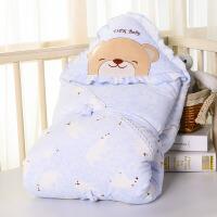 冬款宝宝抱毯被子用品婴儿抱被 秋冬包被冬季厚款抱被新生儿抱被
