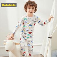巴拉巴拉儿童内衣套装棉春季新款男童睡衣保暖长袖卡通小童宝宝男