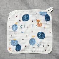 竹棉儿童洗脸小毛巾 新生婴儿宝宝纱布面巾 小方巾 比纯棉软 30x30cm